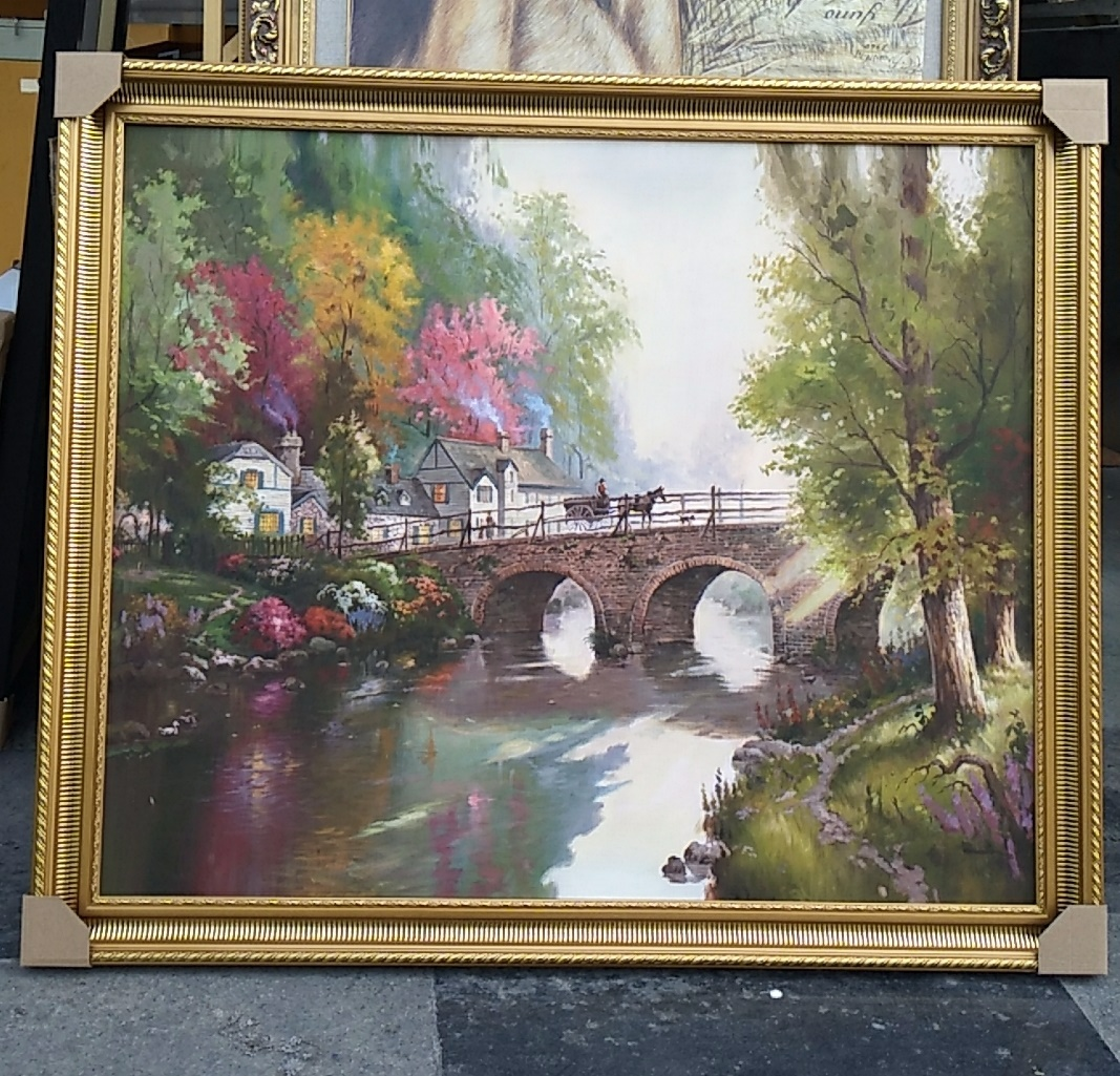 "36x30""Framed painting Reproductions Thomas Kinkade oil paintings"